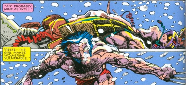 A deslubrante arte de Berry Windsor-Smith na luta de Wolverine contra Lady Letal.
