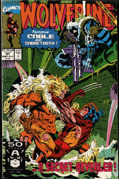 Capa de Wolverine 41: Dentes de Sabre seria o pai de Logan? A ideia é desmentida.