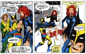 O primeiro flerte entre Wolverine e Jean Grey.