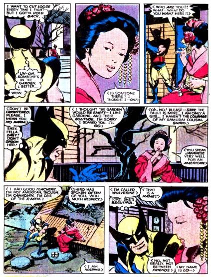 Wolverine encontra Mariko Yashida pela primeira vez...