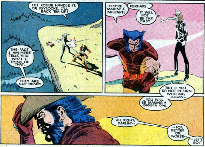 Wolverine e Tempestade na arte sombria de Marc Silvestri: novos tempos.