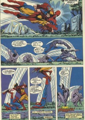 Wolverine versus Homem-Aranha na arte de Mark D. Bright...