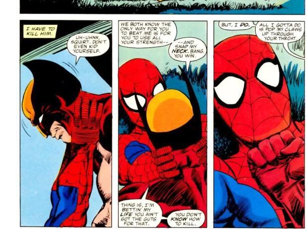 wolverine vs spider-man 2 1987