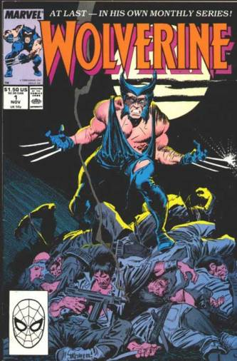 Capa de Wolverine 01: revista solo e novo uniforme.