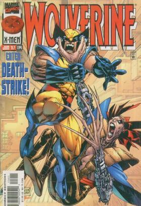 A arte de Leinil Francis Yu em Wolverine 114.