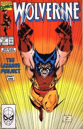 Famosa capa de Wolverine 27 por Jim Lee.