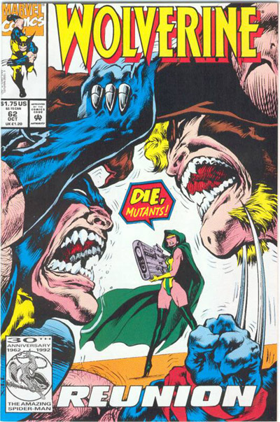 Capa de Wolverine 62 na arte de Mark Texeira.