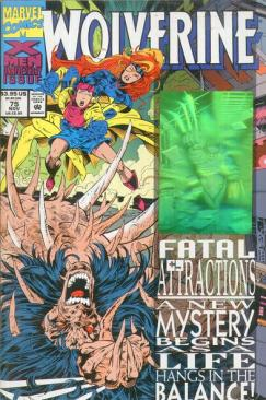Capa de Wolverine 75, parte de Atração Fatal.