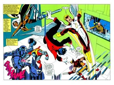 Os X-Men após a morte de Fênix e o novo uniforme de Wolverine.