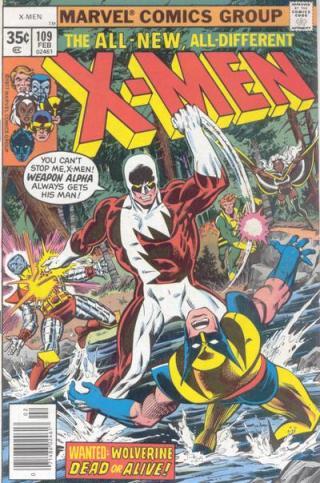 X-Men 109: primeira capa de destaque a Wolverine.
