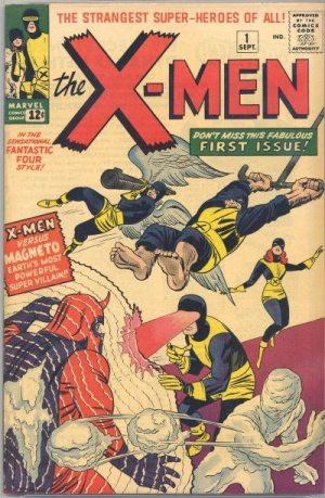 Capa de Uncanny X-Men 01, de 1963, por Jack Kirby.