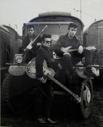 Os Beatles em Hamburgo, em 1960.