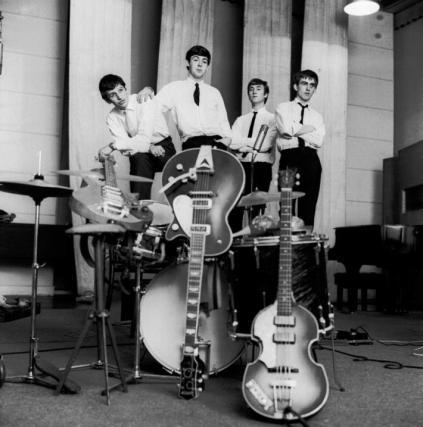 A formação definitiva, com Ringo Starr.