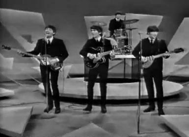 Os Beatles no Ed Sullivan: fenômeno.