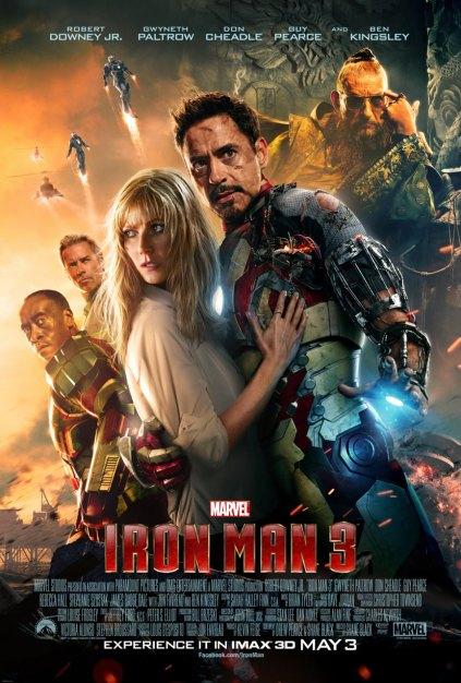 Cartaz de Homem de Ferro 3: mais humano. E menos humano também.