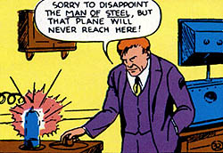 Lex Luthor em sua estreia, ainda com cabelos ruivos.