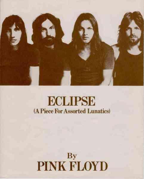 Poster de 1972 apresentando o show Eclipse.