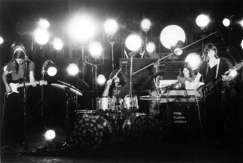 O Pink Floyd ao vivo em 1971.