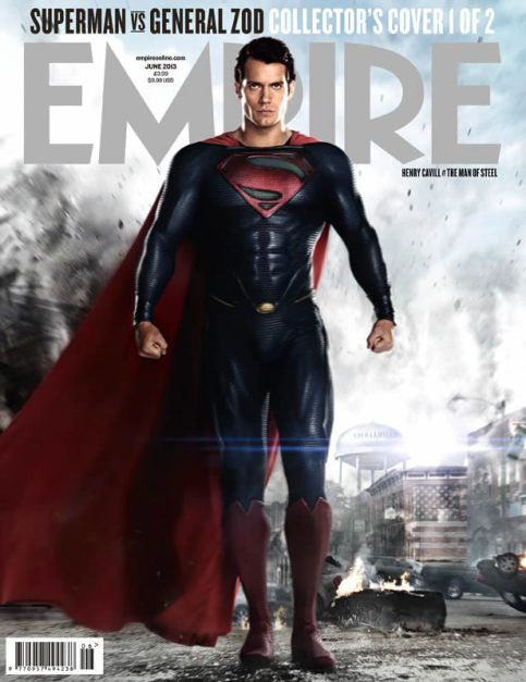 A nova capa da Empire com o Superman.