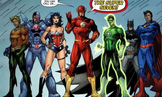 A Liga da Justiça nos quadrinhos: transposta para as telas.