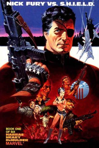 Nick Fury nos quadrinhos...