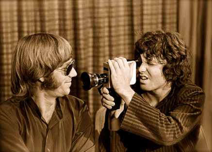 Ray Manzareck e Jim Morrison fundaram o The Doors, em 1965.