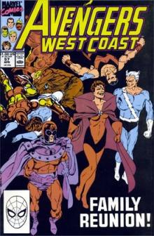 Família reunida: Magneto, Feiticeira Escarlate e Mercúrio.