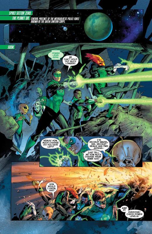 Tropa dos Lanternas Verdes em ação nos quadrinhos. Presença na LIga da Justiça?
