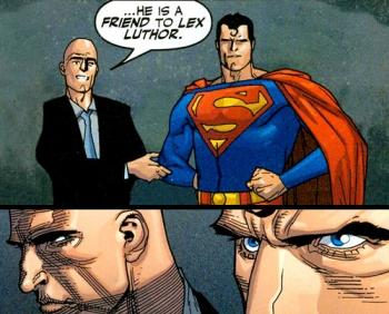 Lex Luthor e Superman: relação mais complexa.