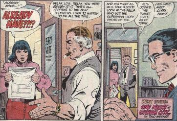 Lois Lane encontra Clark Kent na história de John Byrne.