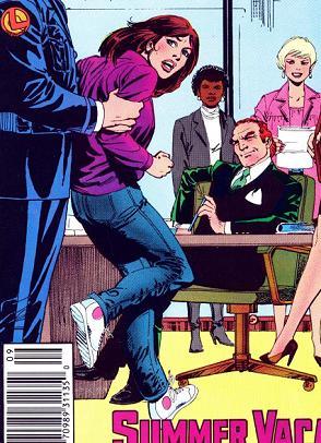 Lois Lane encontra um Lex Luthor ainda com cabelos.
