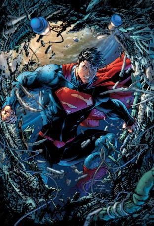 O Superman por Jim Lee.