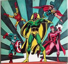 Ao lado dos Vingadores nos anos 1970.
