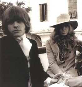 Brian e Anita Pallenberg: o casal queridinho da Swing London.