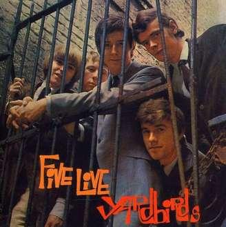 Capa de Five Live Yardbirds: primeiro álbum da carreira de Clapton.