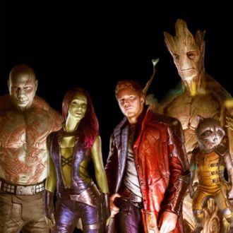 Os Guardiões da Galáxia no filme. Levando o universo cósmico da Marvel aos cinemas.