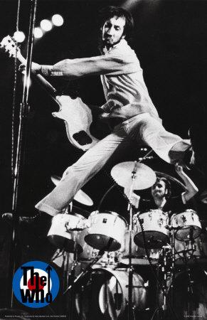 Townshend marcou época com seus saltos no palco.