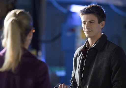 Grant Gustin como Barry Allen em sua estreia em Arrow.