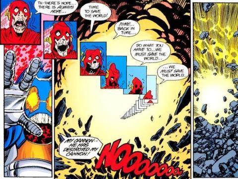 A morte de Barry Allen em Crise nas Infinitas Terras.