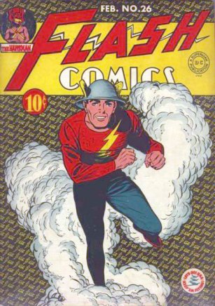 Capa de Flash Comics 26, de 1943.