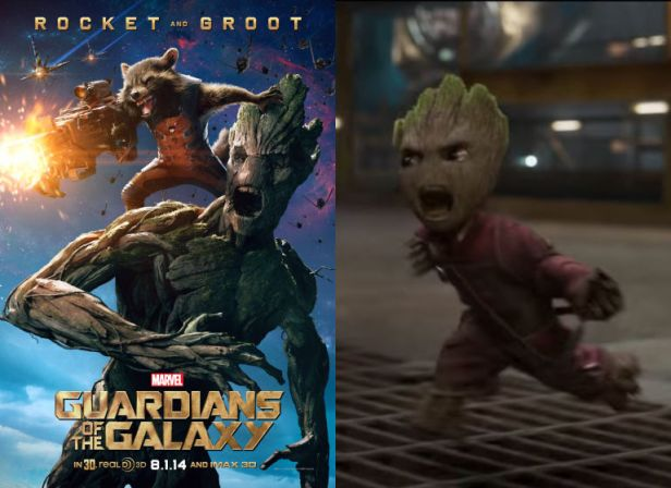 guardians groot and baby groot
