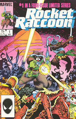 Rocket Raccoon na arte de Mike Mignola.