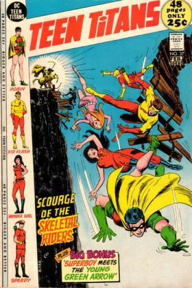 Os Jovens Titãs com Kid Flash.