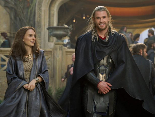 thor 2 official thor and jane in asgard large