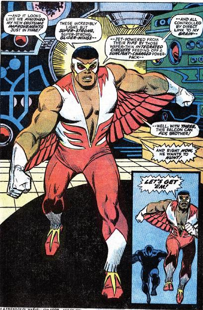Captain America 170_Falcon new suit with wings