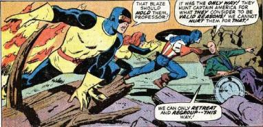 Os X-Men ajudam o Capitão na edição 173.