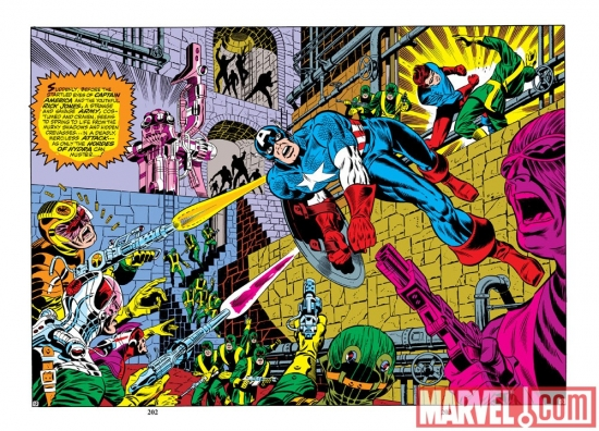 captain america vs hydra by steranko 2