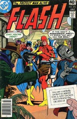 A capa de Flash 275, com a morte de iris Allen.