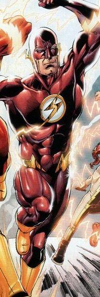 Wally West como Flash.
