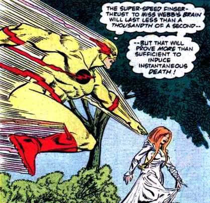 O Flash Reverso tenta matar Fiona Webb.